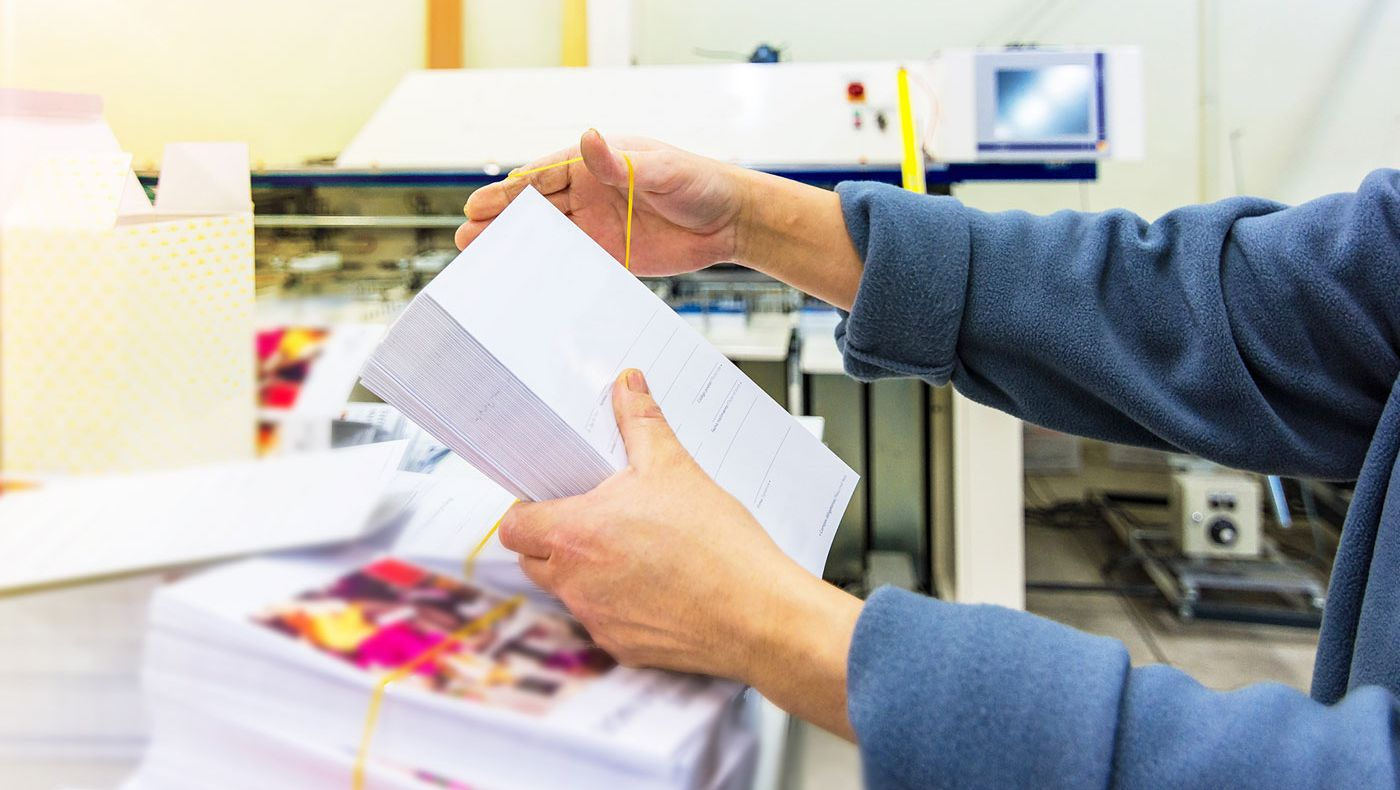 Envelope production process
